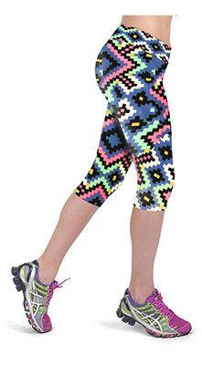 Leggings Lady's Casual Stretched Pants Elastic Cropped Leggings Women Floral Print RL156