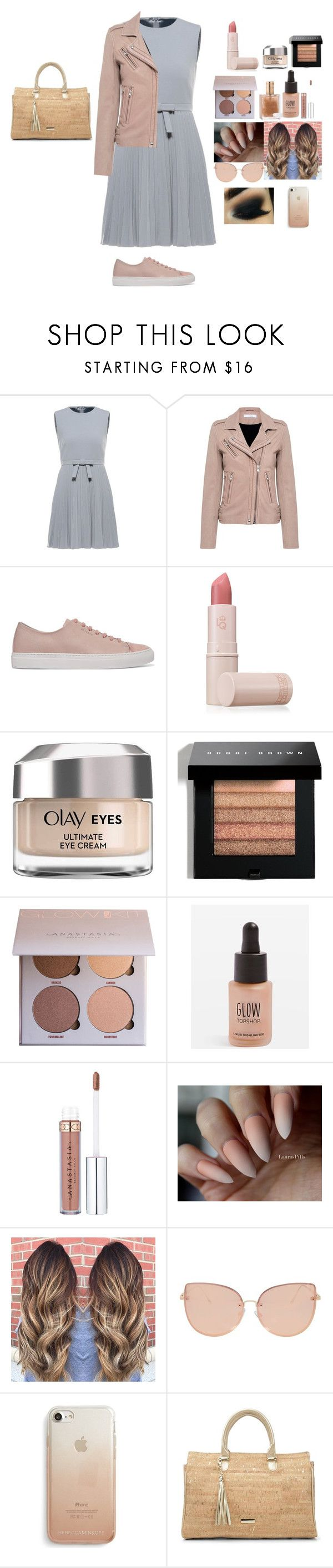 """Bez naslova #505"" by melisa-44 ❤ liked on Polyvore featuring RED Valentino, IRO, Axel Arigato, Lipstick Queen, Olay, Bobbi Brown Cosmetics, Topshop, Rebecca Minkoff, Donald J Pliner and men's fashion"