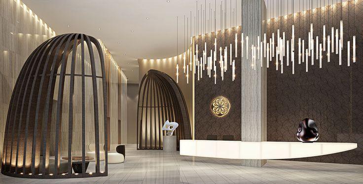 Lodha World One Sales Gallery in Mumbai, India designed by Studio HBA
