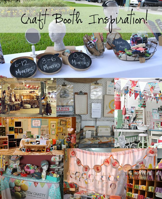 Craft Booth Inspirations love  the head done in newspaper!