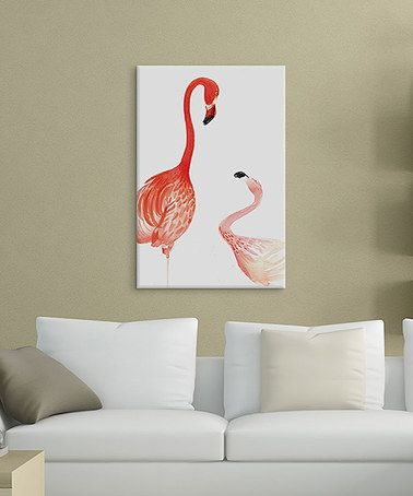 Loving this Rongrong DeVoe Flamingo Giclée Wrapped Canvas on #zulily! #zulilyfinds