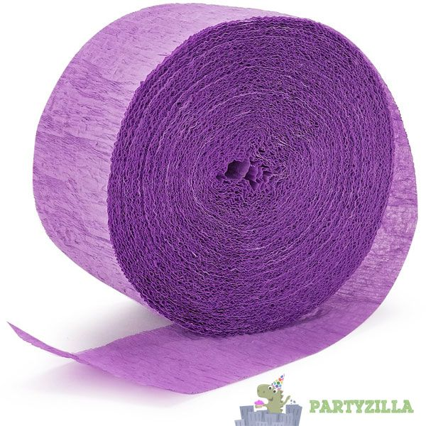 Light Purple Crepe Streamer
