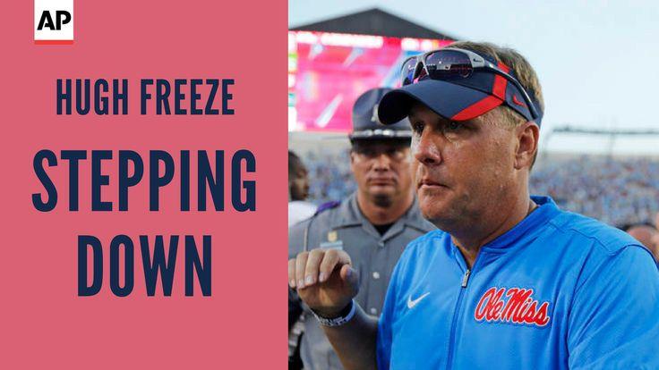 Mississippi football coach Hugh Freeze resigns; assistant Matt Luke named interim coach.