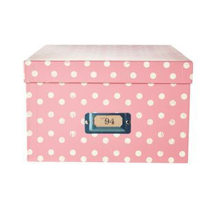 Lot 94 Femme A4 Storage Box Pink Vintage