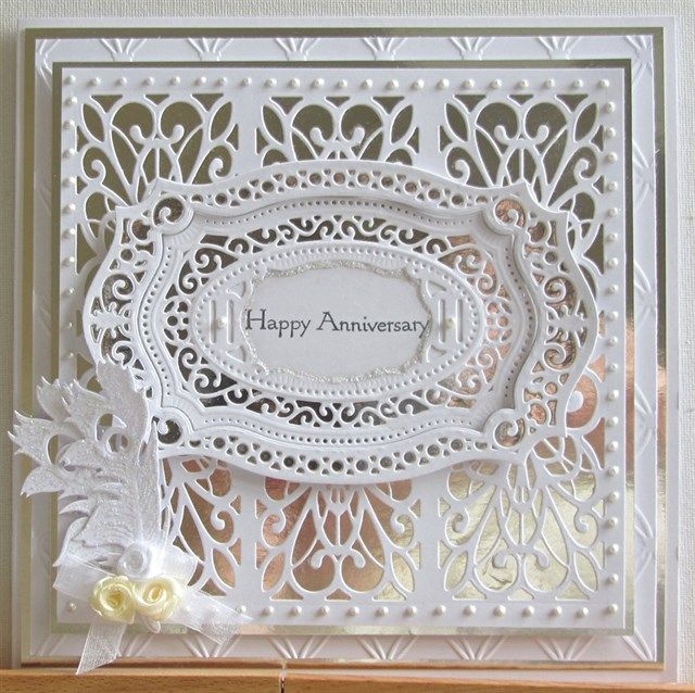Card Making Ideas Silver Wedding Part - 29: Wedding Anniversary Cards, Wedding Cards, Easel Cards, Silver Weddings,  Holiday Cards, Tonic Cards, Spellbinders Cards, Card Crafts, Sue Wilson