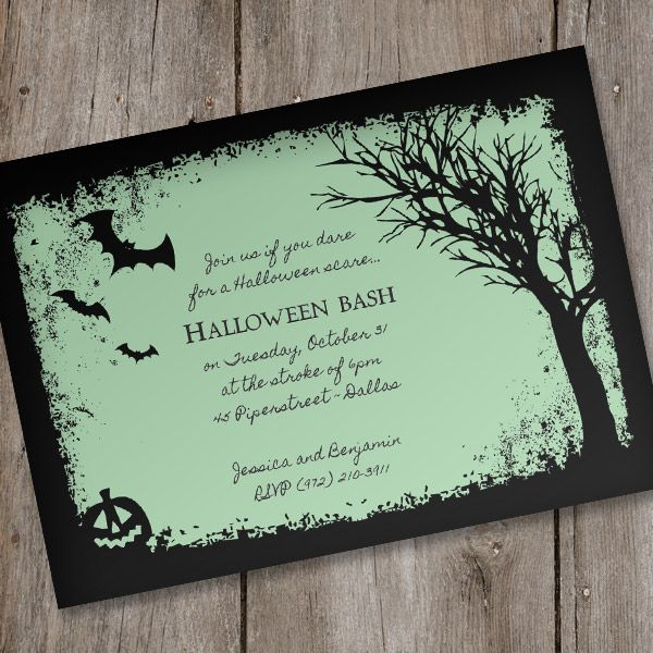 halloween invitation template spooky woods in 2018 halloween