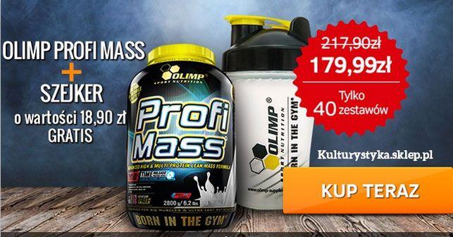 Tylko 40 zestawów! 179.99 zł - Olimp Profi Mass 2.80 kg + Szejker Sports 2nd Tech! Promocja do 22-go lutego.