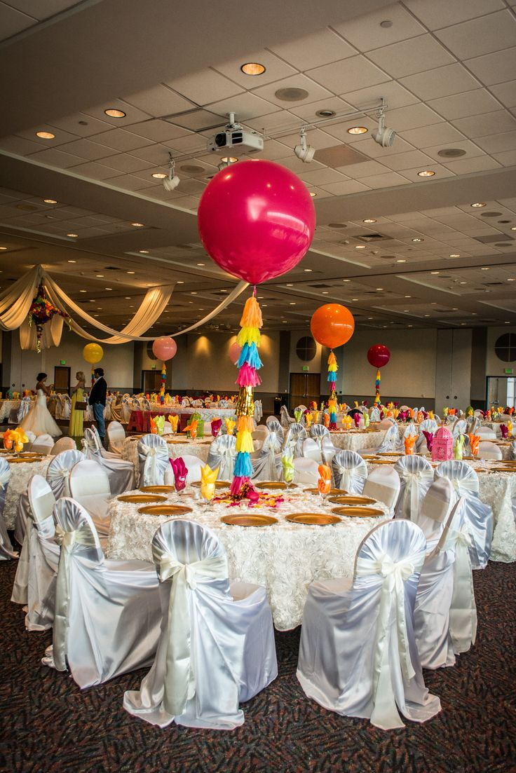 Fiesta Wedding Rosenberg Skyroom San Antonio Wedding Jumbo Balloon