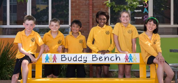 Campbell Primary School buddy bench