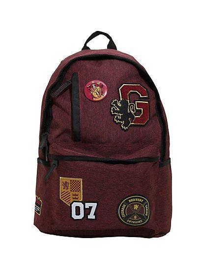 Harry Potter Gryffindor Varsity Patch BackpackHarry Potter Gryffindor Varsity Patch Backpack,