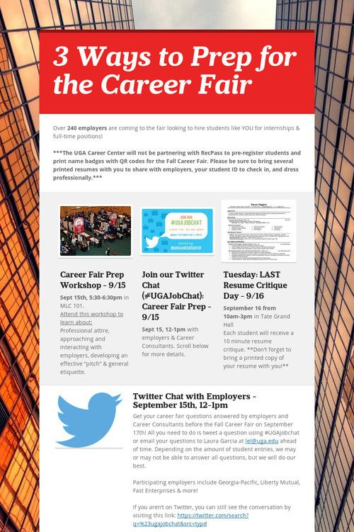 26 best Navigating a Career Fair images on Pinterest Career - 10 minute resume