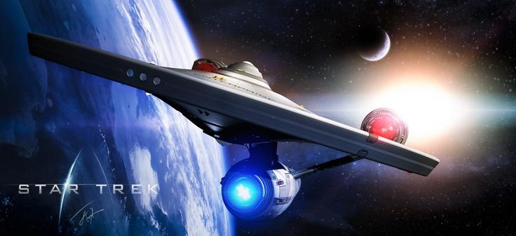 roen911's beautiful render of MadKoiFish (Dan Uyeno's) re-imagined U.S.S. Enterprise