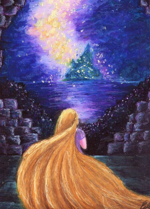The Art of Tangled • could you do or find an oil pastel art of...