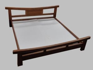 Asian bed platform style teak bello