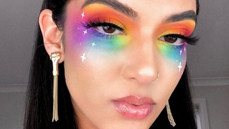 These Makeup Looks For Pride 2019 Will Color You Impressed Pride Makeup Ideas Color Impressed Makeup Pride Cool Makeup Looks, Crazy Makeup, Cute Makeup, Looks Cool, Eye Makeup Designs, Eye Makeup Art, Eyebrow Makeup, Fairy Makeup, Makeup Geek