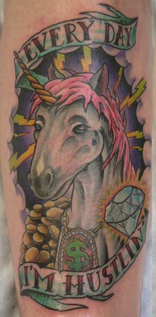 Unicorn tattoos. LOL.