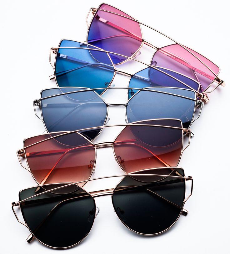 Okulary przeciwsłoneczne kocie oczy.