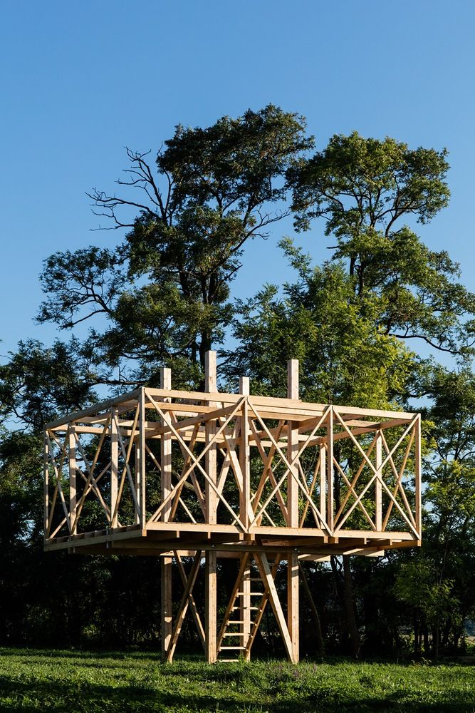Architects Construct Village of 14 Wooden Structures at Hello Wood 2016,© Tamás Bujnovszky