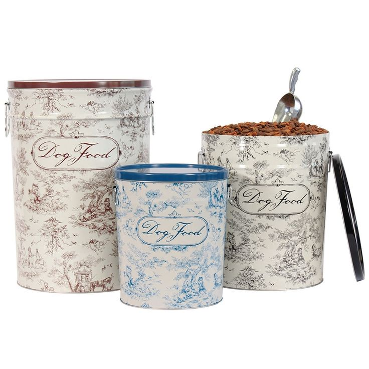 Toile Dog Food Storage Containers $52
