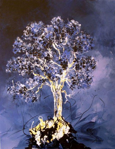 tableau peinture arbre vie paysage bleu paysages acrylique arbre de vie 1 dessins. Black Bedroom Furniture Sets. Home Design Ideas