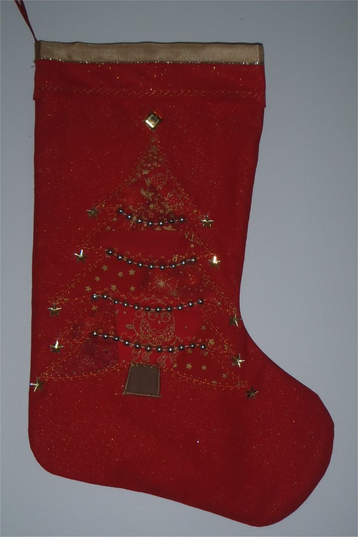 201659- crazy quilted Christmas tree with gold embellishments