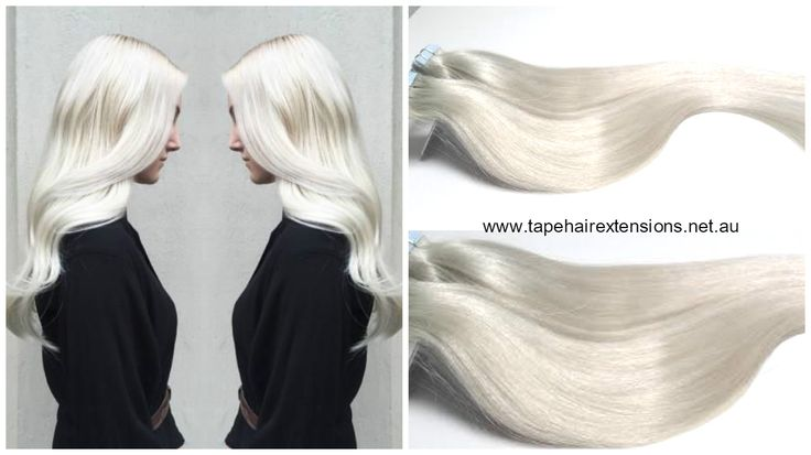White Blonde Hair Extensions Super White Blonde - No Yellow! This Colour Is Almost Impossible To Find. Pure Russian 100% Remy Human Hair www.tapehairextensions.net.au