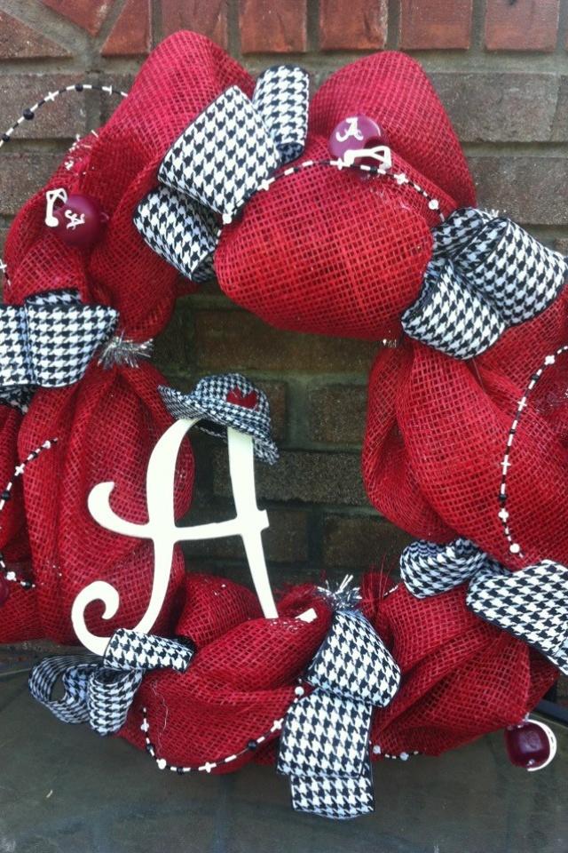 Alabama wreath mesh roll tide