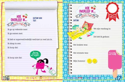 Extra vakantie-dagboek-pagina's - Hoeoverleefik.nl