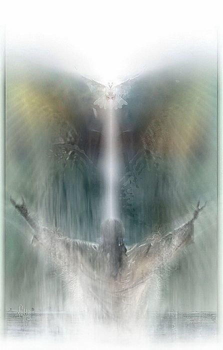 """""""And the Holy Spirit descended in a bodily shape like a dove upon Him, and a voice came from heaven, which said, """"Thou art my beloved Son; in Thee I am well pleased."""" -LK 3:22 KJV"""