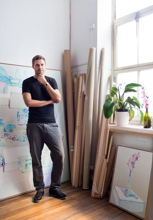 Julian Meagher in his Sydney studio. Photo by Phu Tang for thedesignfiles.net
