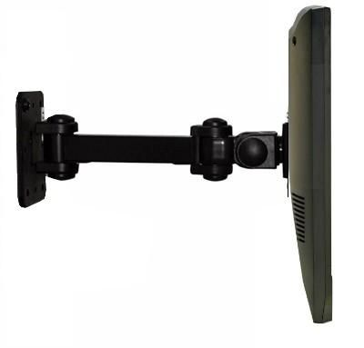 Dw120b 12 Wall Monitor Arm Bracket Swivel Tilt Rotate Vesa 100 X 100 Vesa Bracket Monitor Arms Swivel