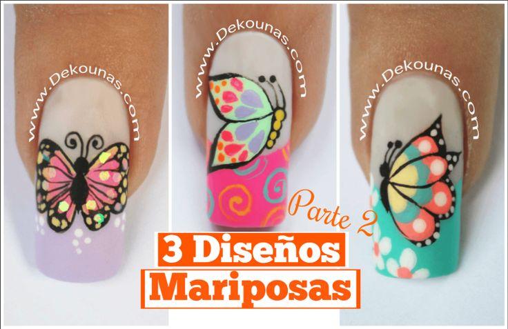 3 Diseños de Mariposas Parte 2