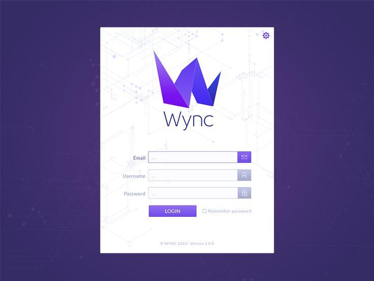 Wync dekstop app login
