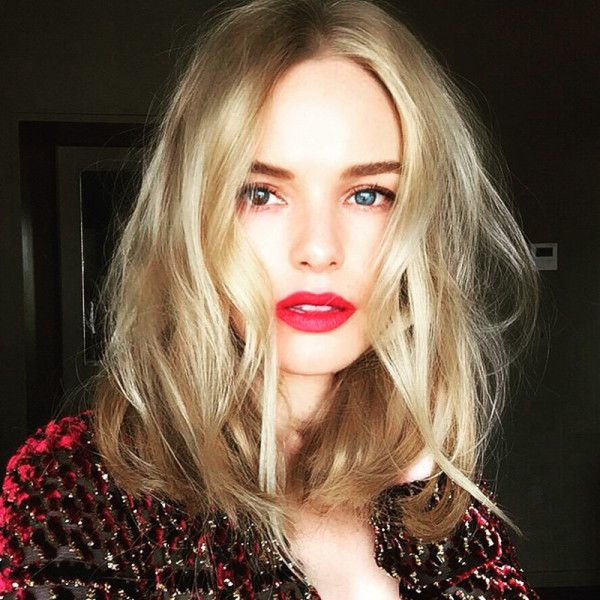 love Kate Bosworth's effortless waves and classic red lip