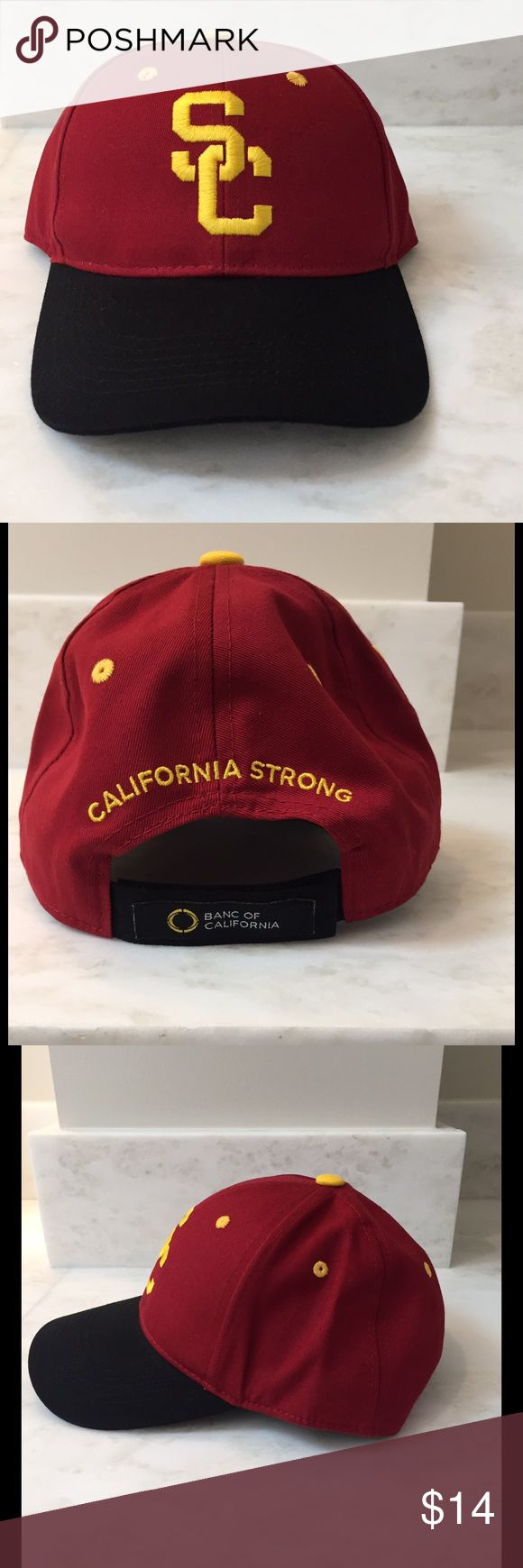 USC California Strong adjustable cap hat new University Of Southern California USC Trojans SC California Strong hat cap unisex adjustable Velcro strap.  Brand New Accessories Hats