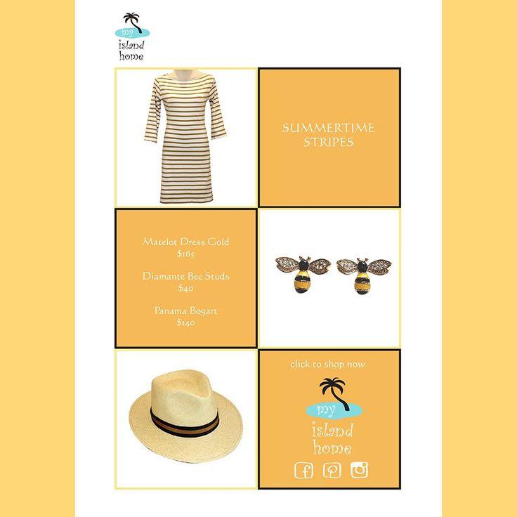 🐝 Summertime Stripes 🐝 @myislandhome
