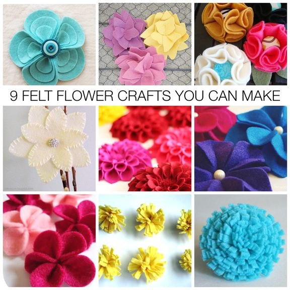 Nine Felt Flower Craft Ideas  You Can Make - Easy Mother's Day Gifts & Gift Embellishments!