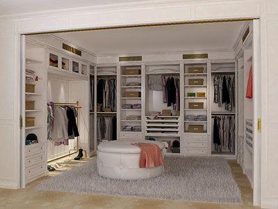 Laqué walk-in de la collection d'Oxford est fourni - Boiserie walk-in closet 2