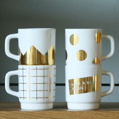 white & gold cups / mmmg