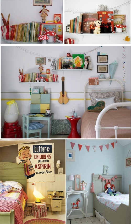 Vintage kids rooms (http://wonderwren.blogspot.com/2011/06/sunny-sunday.html#)