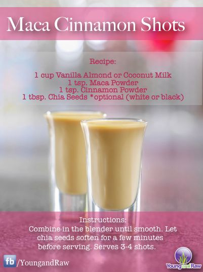 "Maca Cinnamon Shots Source ~ Young and Raw added a new photo: ""Looking for something fun, creative and..."""