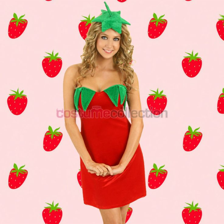 Adult Strawberry Dress Funny Party Costume