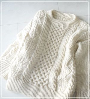 Hand knitted sweater | アランセーターは重い ?