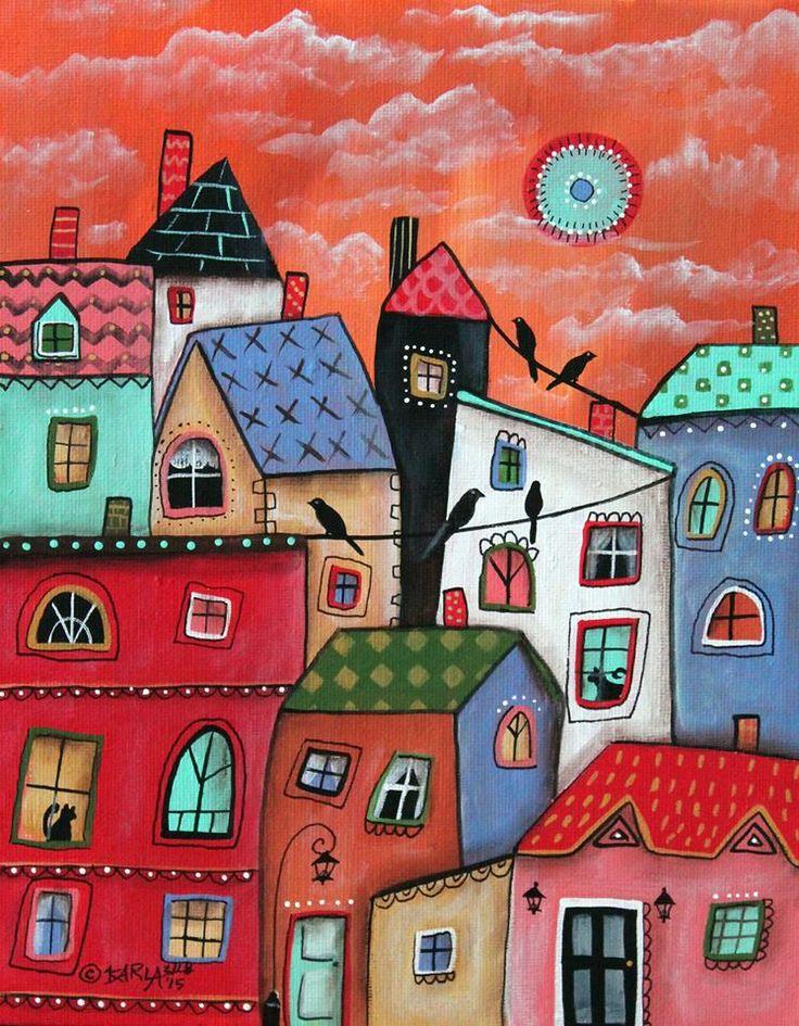 ранен, картинки нарисованые города детей постарше