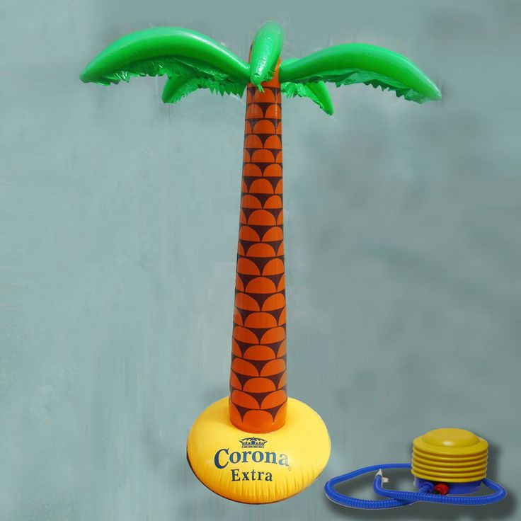 Palma Gonfiabile Birra Corona Messico + Pompa OMAGGIO Gadget  bar pub festa kit