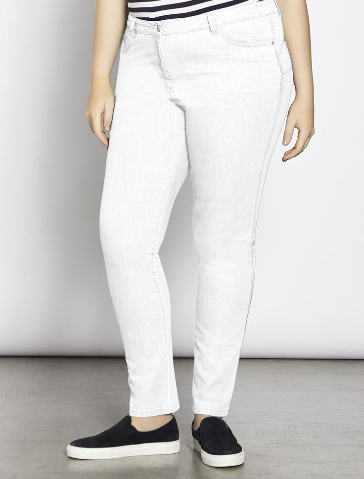 "Jeans Shaping fit in denim leggero, bianco - ""ILARE"" Marina Rinaldi"