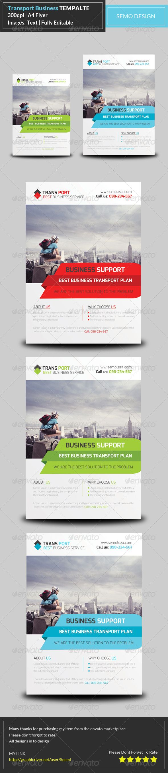 Transport Business Flyer Template - Corporate Flyers