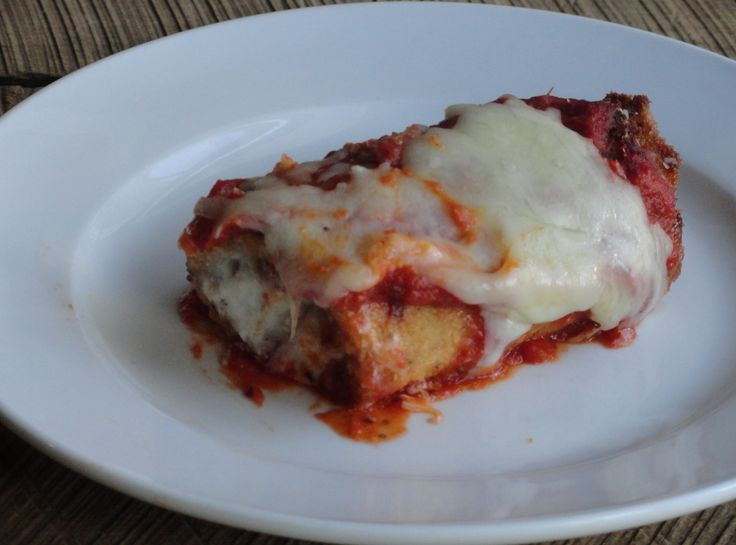 """Eggplant Rollatini - use """"male"""" eggplants, which have less seeds. They have an indented end, according to this recipe!! Who knew?"""