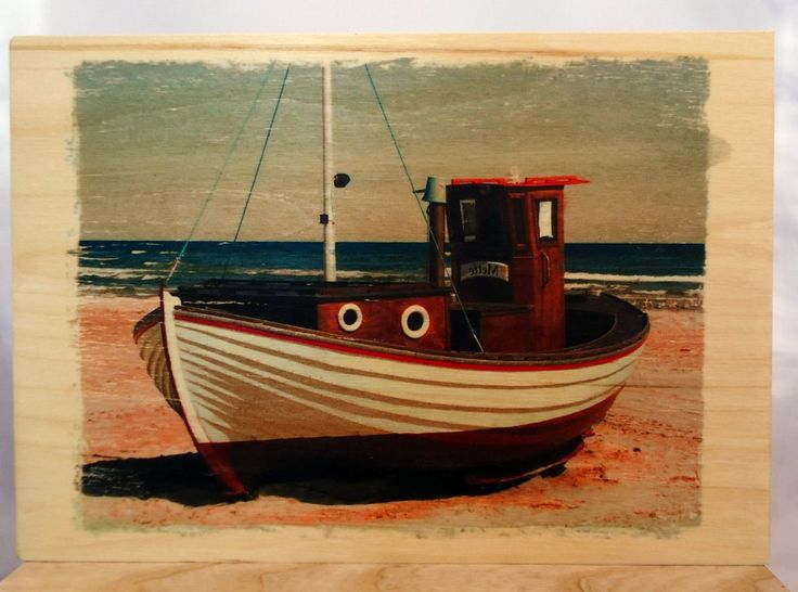 Photo, picture on wood, boat on wood. by VipWood on Etsy