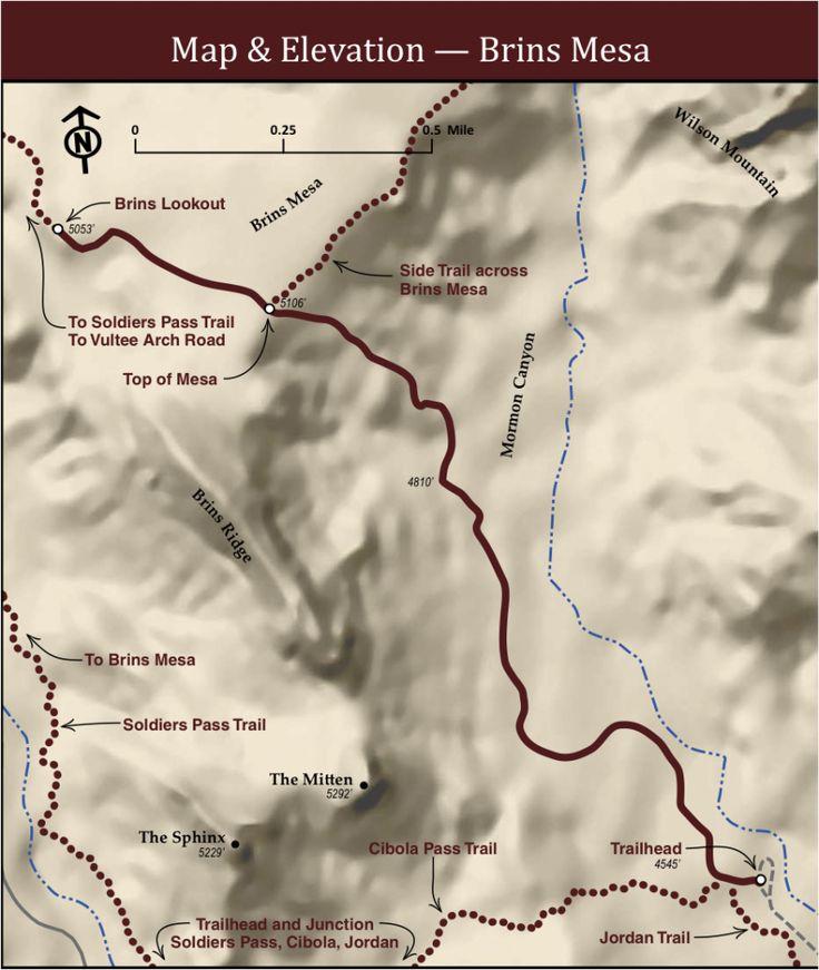 Brins Mesa Sedona Trail Map